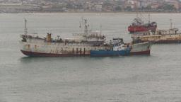 HD2009-11-12-2 fishing boats in harbor Ecuador Footage
