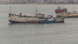 HD2009-11-12-2 fishing boats in harbor Ecuador Stock Video Footage