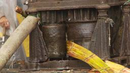 HD2009-11-12-30 sugar cane press Stock Video Footage