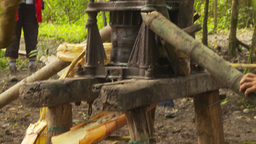 HD2009-11-12-32 sugar cane press Stock Video Footage