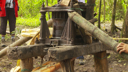 HD2009-11-12-32 sugar cane press Stock Video Footage