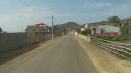 HD2009-11-13-2 drive through small town Ecuador Footage