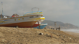 HD2009-11-13-14 boats on beach Ecuador Stock Video Footage