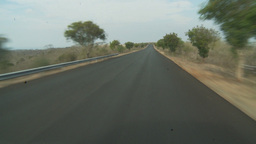 HD2009-11-13-22 black pave drive dry country Stock Video Footage