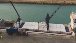 HD2009-11-14-4 unloading tuna from bots pan Stock Video Footage