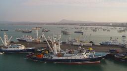 HD2009-11-14-10 tuna boat at docks Stock Video Footage