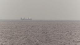 HD2009-11-14-16 distnat cargo ship horizon Stock Video Footage