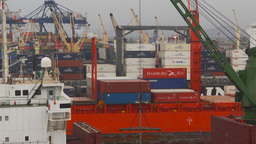 HD2009-11-14-20 cargo ships port Peru Footage
