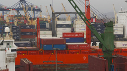 HD2009-11-14-20 cargo ships port Peru Stock Video Footage