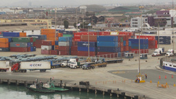 HD2009-11-14-22 containor port Peru Z Stock Video Footage