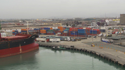HD2009-11-14-22 containor port Peru Z Stock Video Footage