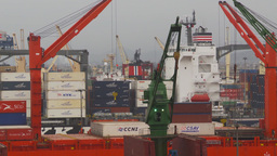 HD2009-11-14-24 containor ships many Footage
