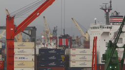 HD2009-11-14-26 containor ships many Stock Video Footage