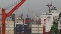 HD2009-11-14-26 containor ships many Footage