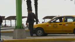 HD2009-11-15-3 policeman directs traffic Stock Video Footage