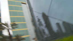 HD2009-11-15-15 mirror reveal to office tower Stock Video Footage