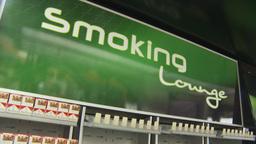 HD2009-11-15-19 smoking lounge Stock Video Footage