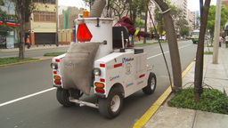HD2009-11-15-29 street cleaning vacumn machine Stock Video Footage