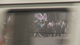 HD2009-11-15-35 protest march Stock Video Footage