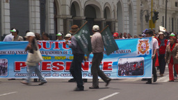 HD2009-11-15-37 protest march Stock Video Footage