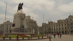 HD2009-11-15-47 Plaza San Martin Lima Stock Video Footage