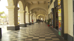 HD2009-11-15-49 arched walkway checker Stock Video Footage