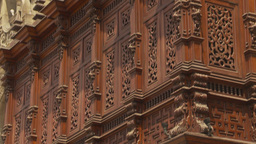 HD2009-11-15-63 intricate carved building Stock Video Footage