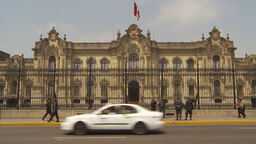 HD2009-11-16-2 traffic Gov house Lima Stock Video Footage