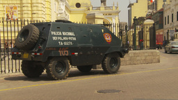 HD2009-11-16-12 police armor car Stock Video Footage