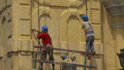 HD2009-11-16-16 men painting bdg Footage