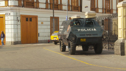 HD2009-11-16-22 police armor car Stock Video Footage