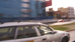 HD2009-11-16-32 blur driving through commercial blocks Footage