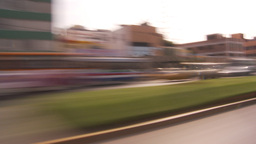 HD2009-11-16-32 blur driving through commercial blocks Stock Video Footage
