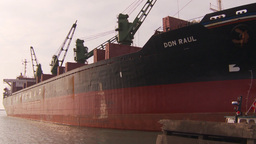 HD2009-11-16-42 pan cargo ships to containors Footage