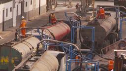 HD2009-11-16-48 tankers trucks dock Stock Video Footage