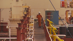 HD2009-11-16-52 crewman on cargoship Stock Video Footage