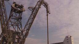 HD2009-11-16-54 crane at dock tilt Stock Video Footage