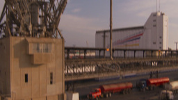 HD2009-11-16-54 crane at dock tilt Stock Video Footage