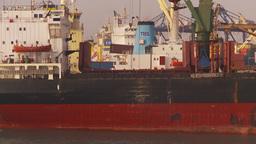 HD2009-11-17-1 cargo ship Stock Video Footage
