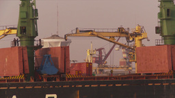 HD2009-11-17-3 cargo ship Stock Video Footage