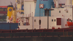 HD2009-11-17-5 TL cargo ship unloading Footage