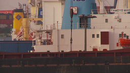 HD2009-11-17-5 TL cargo ship unloading Stock Video Footage