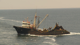 HD2009-11-18-1 fishing boat heading out to sea Footage