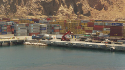 HD2009-11-18-9 Arica containor port Stock Video Footage