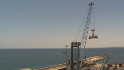 HD2009-11-18-11 sea containor crane port Stock Video Footage