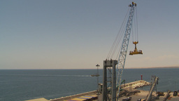 HD2009-11-18-11 sea containor crane port Stock Video Footage