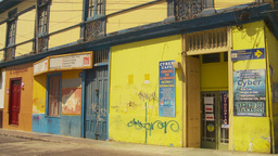 HD2009-11-18-25 Arica streetlife yellow bdg Footage