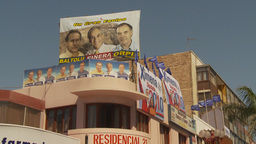 HD2009-11-18-27 Chilean election political posters Stock Video Footage