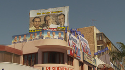 HD2009-11-18-27 Chilean election political posters Footage