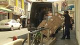 HD2009-11-18-33 Arica Unloading Crazy Amount Boxes stock footage